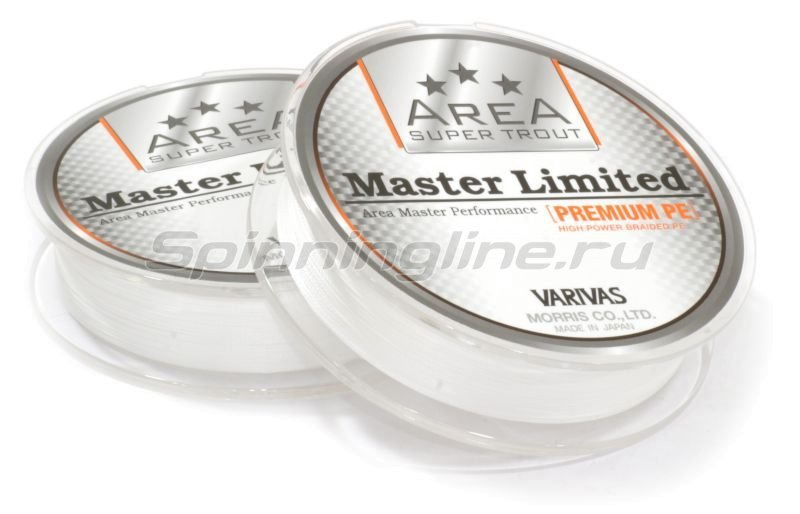 Varivas - Шнур Area Super Trout Master Limited Premium PE 75м 0.2 white - фотография 2
