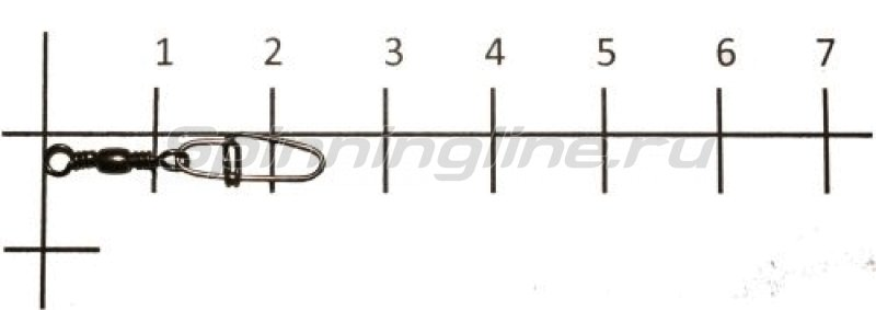 Metsui - Вертлюг с карабином Brass Barrel Swivel With Crosslock Snap black №12 - фотография 1