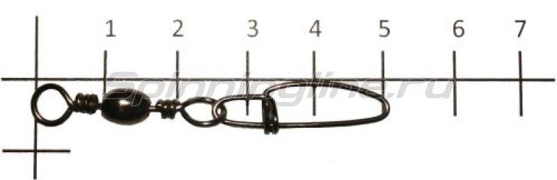 Вертлюг с карабином Brass Barrel Swivel With Crosslock Snap black №2 -  1