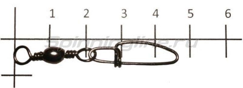 Вертлюг с карабином Brass Barrel Swivel With Crosslock Snap black №4 -  1