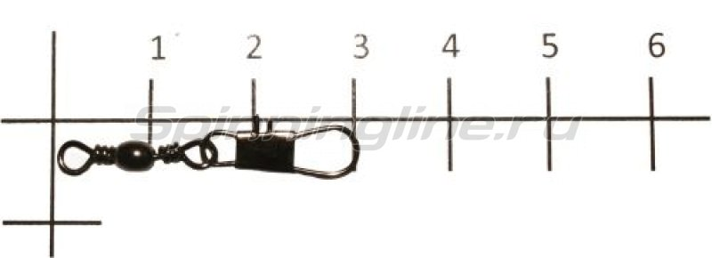 Metsui - Вертлюг с карабином Brass Barrel Swivel With Interlock Snap black, №10 - фотография 1