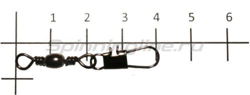Вертлюг с карабином Brass Barrel Swivel With Interlock Snap black, №6 -  1