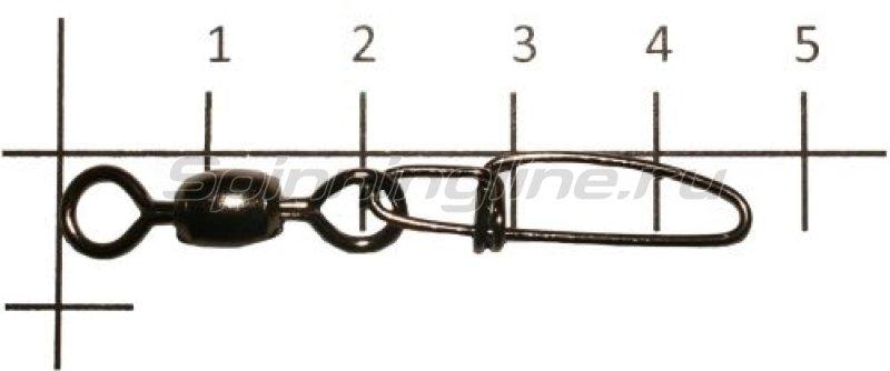 Metsui - Вертлюг с карабином Crane Swivel With Crosslock Snap black, №1 - фотография 1