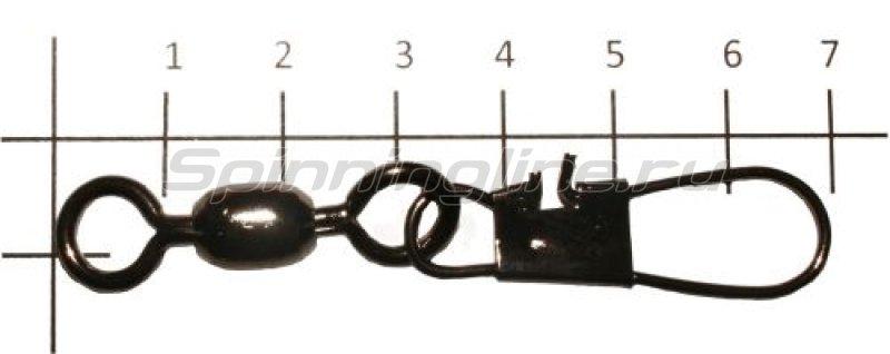 Metsui - Вертлюг с карабином Crane Swivel With Interlock Snap black, №5/0 - фотография 1