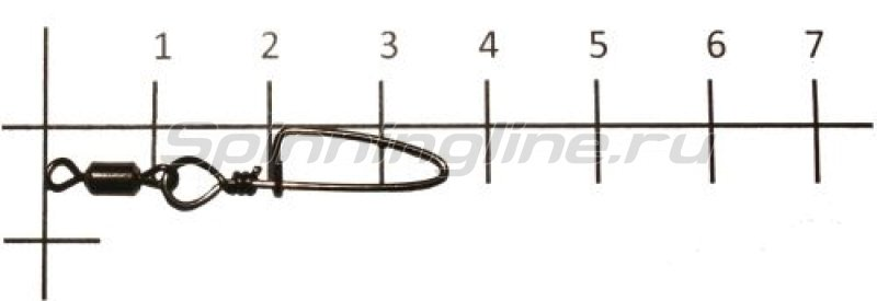 Metsui - Вертлюг с карабином Rolling Swivel With Coastlock Snap black, №5 - фотография 1