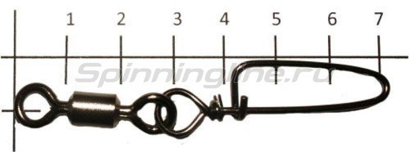 Вертлюг с карабином Rolling Swivel With Coastlock Snap black, №5/0 -  1