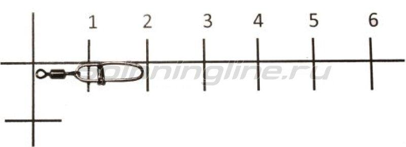 Вертлюг с карабином Rolling Swivel With Crosslock Snap black, №10 (12) -  1