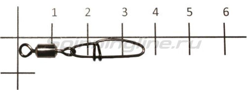 Metsui - Вертлюг с карабином Rolling Swivel With Crosslock Snap black, №2 - фотография 1