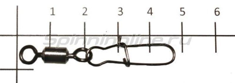Вертлюг с карабином Rolling Swivel With Duo Lock Snap black, №1/0 -  1