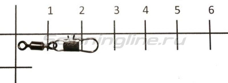 Вертлюг с карабином Rolling Swivel With Interlock Snap black, №6 -  1