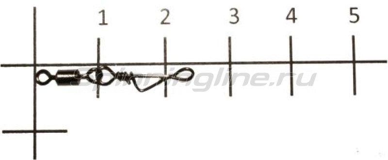 Metsui - Вертлюг с карабином Rolling Swivel With Italian Snap black, №7 - фотография 1