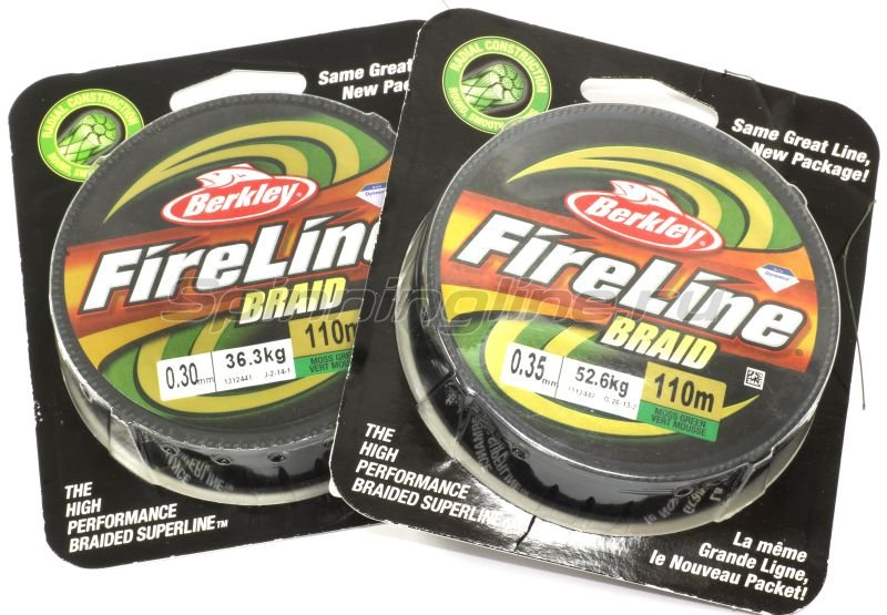 Шнур FireLine Braid Green 110м 0,20мм -  1