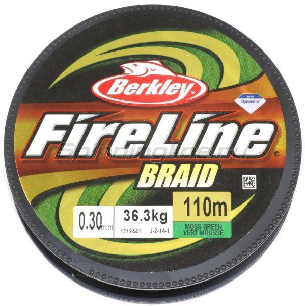 Шнур FireLine Braid Green 110м 0,20мм -  2