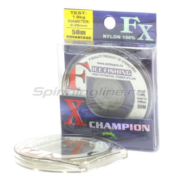 Леска FX Champion 50м 0,125мм -  1