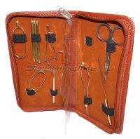Набор инструментов для вязания мушек в чехле