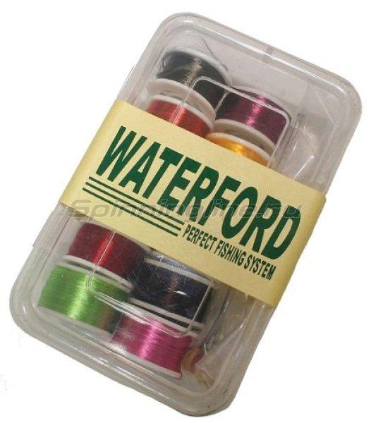Набор нитей- шелк для мушек (12шт.) + бобинодержатель (Waterford) - фотография 1
