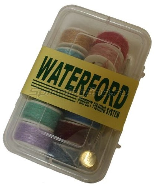 Набор нитей- шерсть для мушек (12шт.) + бобинодержатель (Waterford) -  1