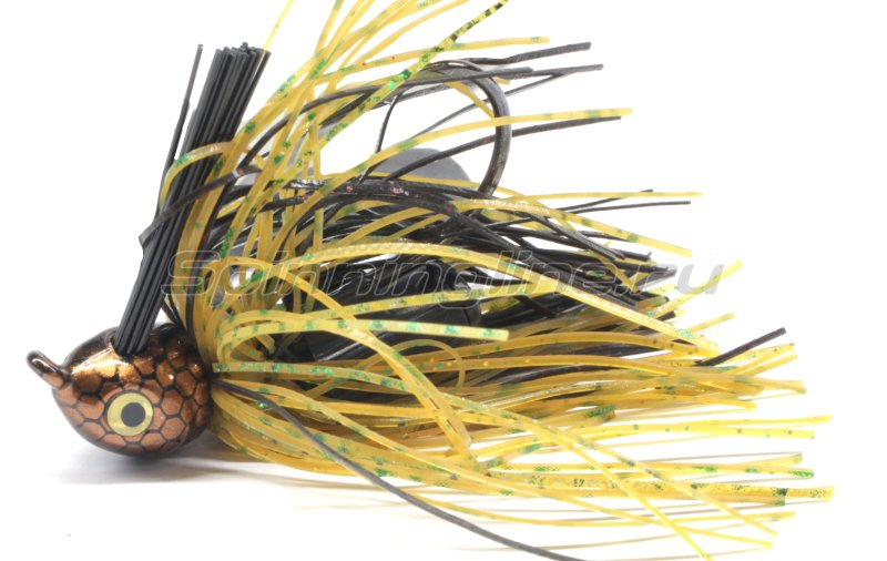 Strike King - Флиппинговая джигголовка Premier Elite Jig 15гр black/brown/amber flash - фотография 1