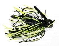 Флиппинговая джигголовка Pro-Glo Pro-Model Jig 14гр black/chartreuse