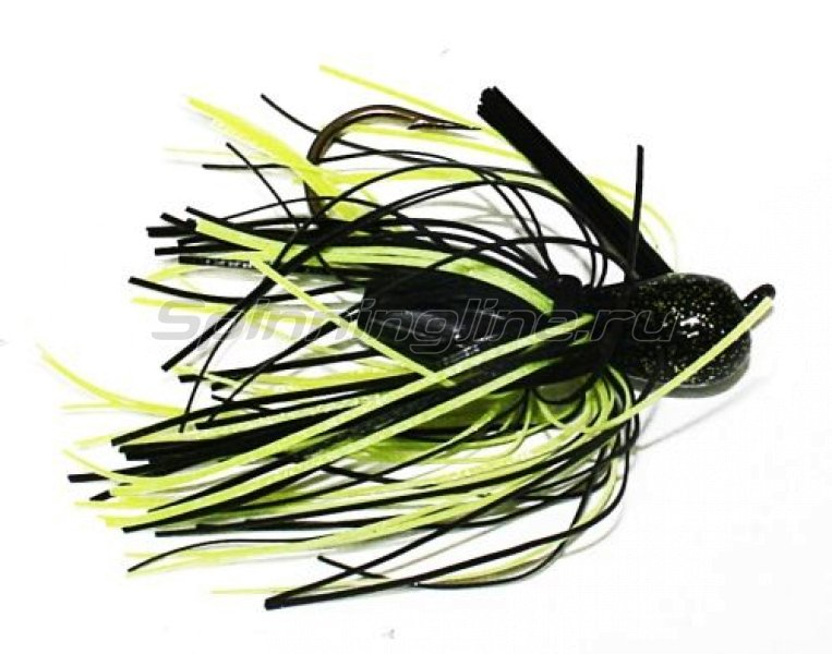 Strike King - Pro-Glo Pro-Model Jig 14гр black/chartreuse - фотография 1