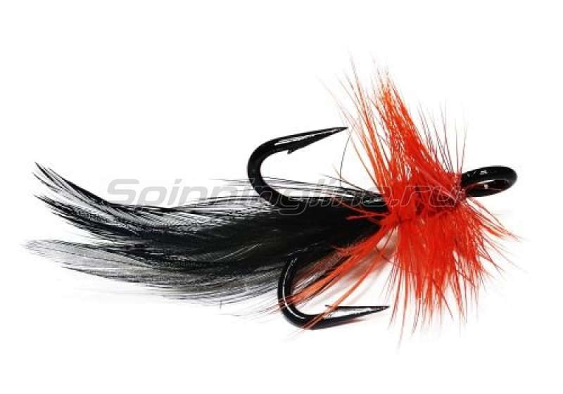 STRIKE PRO - Муха на тройнике VMC 9617BK №1 оранжево-черная (F1-OB) - фотография 1
