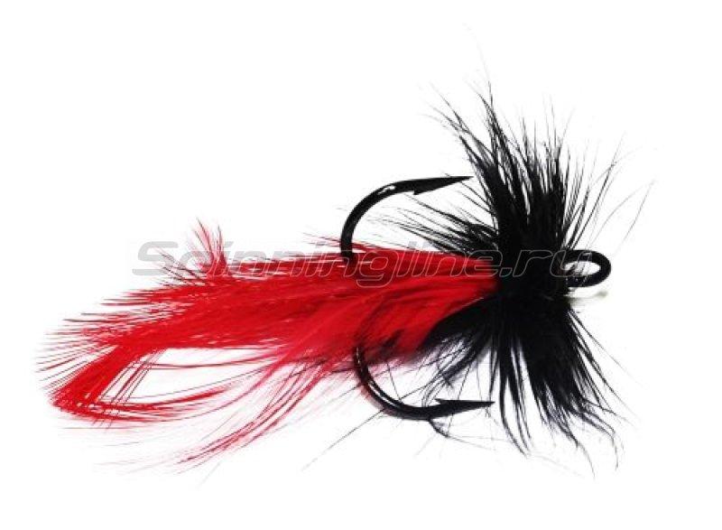 Муха на тройнике VMC 9649BK №4 черно-красная (F4-BR) -  1