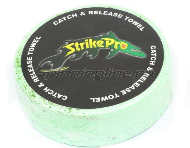 Полотенце с логотипом Strike Pro зеленое - фотография 1