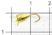 Мормышка Капля с ушком d4 золото с фосфорной каплей