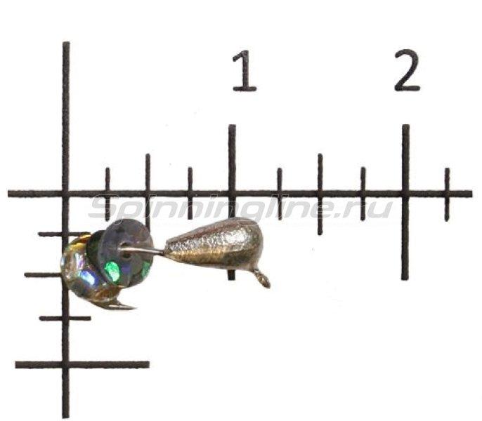 Lumicom - Мормышка Безмотылка №2 капля с ушком d3.2 серебро - фотография 1