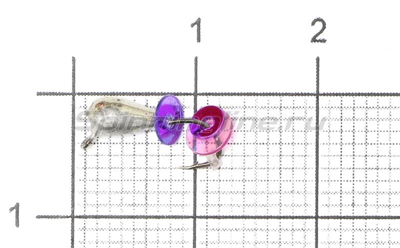 Lumicom - Мормышка Безмотылка №2 капля с ушком d3.2 никель - фотография 1