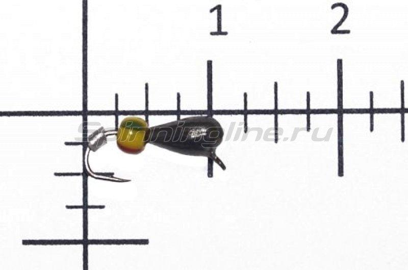 Lumicom - Мормышка Безмотылка №4 капля с ушком d3.2 черный никель - фотография 1