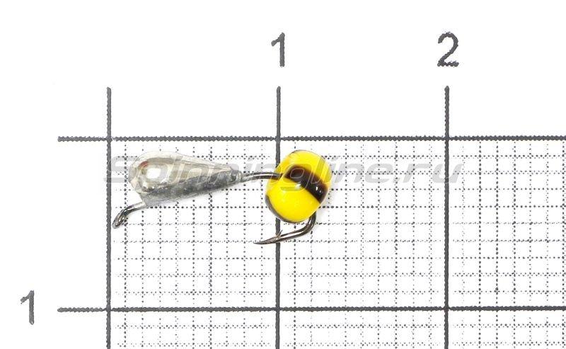 Lumicom - Мормышка Безмотылка №4 капля с ушком d3.2 никель - фотография 1