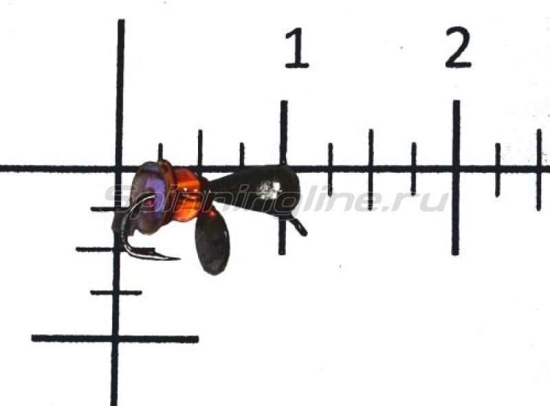 Lumicom - Мормышка Безмотылка №6 капля с ушком d3.2 черный никель - фотография 1