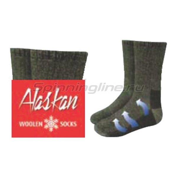 Носки Alaskan зеленые M - фотография 1