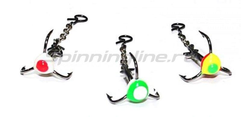 Lumicom - Тройник с фосфорной каплей 28-Т (крючок 12 Колюбакино) - фотография 1