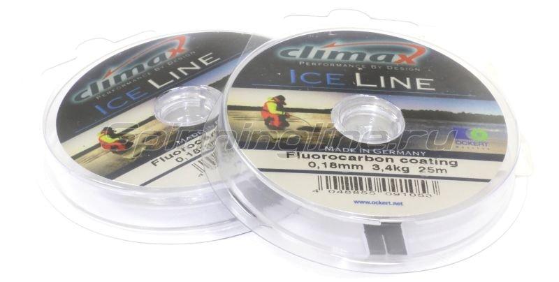 Climax - Леска Ice Line 25м 0,14мм серебристо-серая - фотография 1