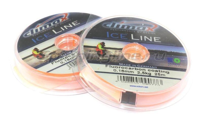 Леска Ice Line 25м 0,18мм оранжевая -  1