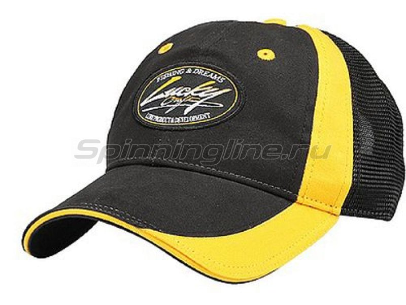 Кепка Lucky Craft Professional Cap Black Yellow - фотография 1