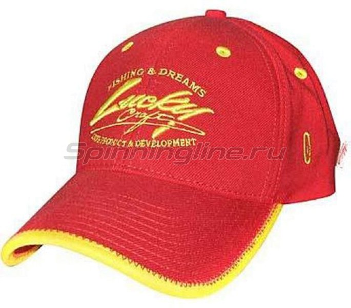 Кепка Lucky Craft Racing Flex Fit Cap Red Yellow - фотография 1
