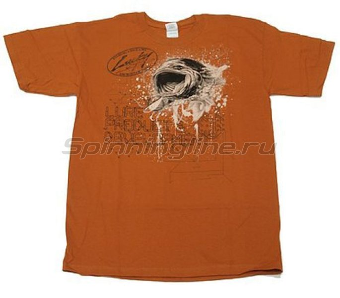 Футболка Lucky Craft T-Shirts Brown XL - фотография 1