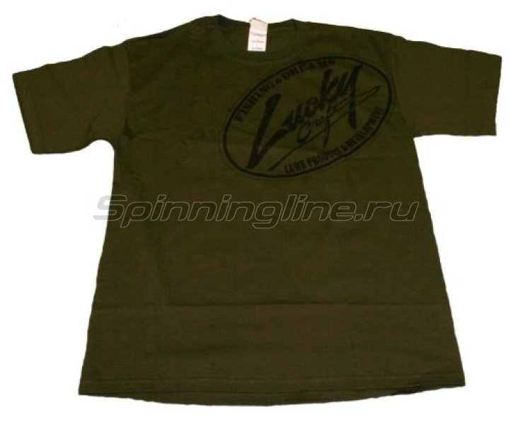 Футболка Lucky Craft T-Shirts Moss Green L - фотография 1