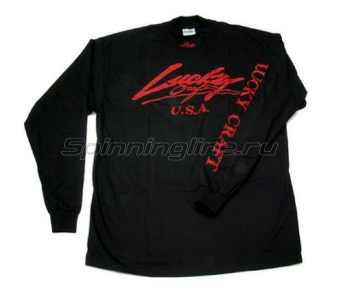 Футболка Lucky Craft Classic Turtle Neck Shirt Black Red-XL -  1