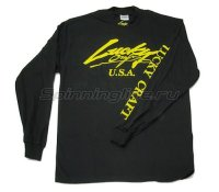 Футболка Lucky Craft Classic Turtle Neck Shirt Black Yellow-XL