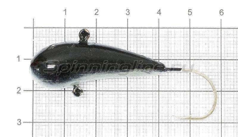 Fish Gold - Мормышка судаковая Уралка Светлячок 32гр черный - фотография 1