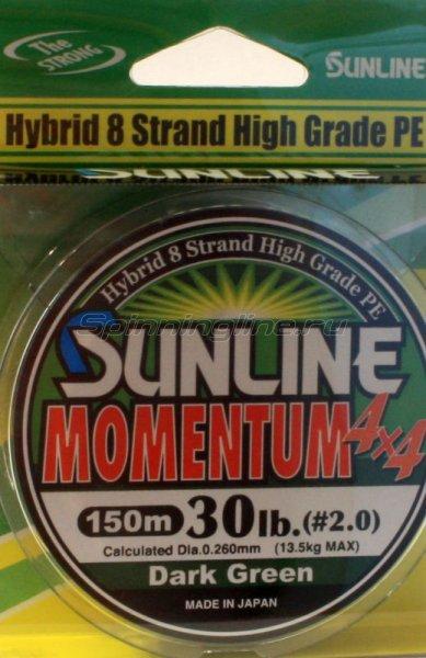 Sunline - Шнур Momentum 150м 0.8 dark green - фотография 1