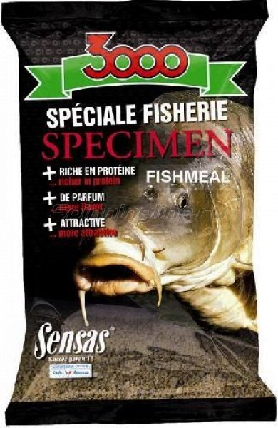 Прикормка Sensas 3000 Spicemen Fishmeal 1 кг -  1