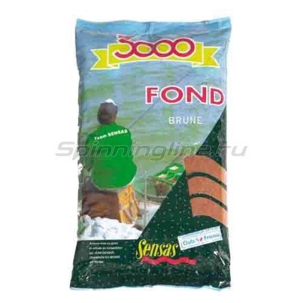 Прикормка Sensas 3000 Fond Brune 1 кг - фотография 1