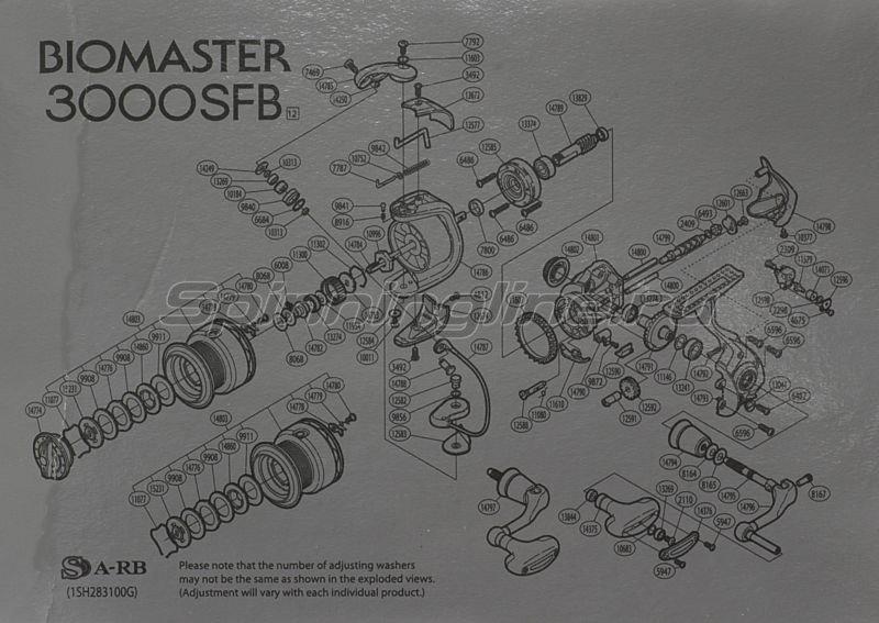 Shimano - Катушка Biomaster 3000 SFB - фотография 11