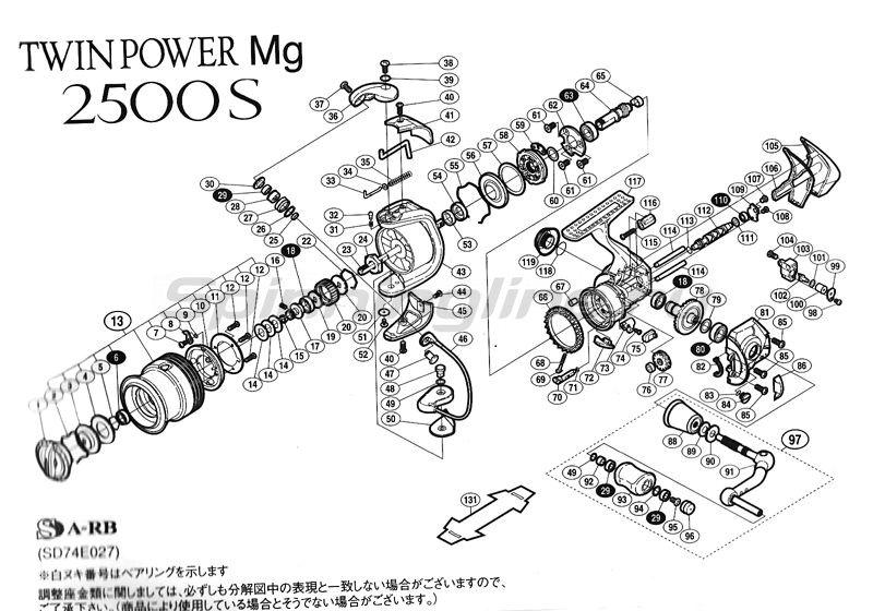 Shimano - Катушка Twin Power Mg 2500S - фотография 2