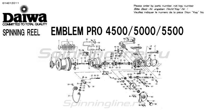 Daiwa - Катушка Emblem Pro 5500 - фотография 9